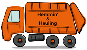 Hemmin' and Hauling's Company logo, one of Donna Declutter's organizing resources
