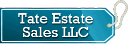Tate Estate Sales Company logo, one of Donna Declutter's organizing resources